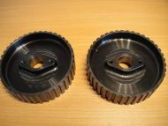 2 X CAM PULLEYS, BOLTS AND WASHERS